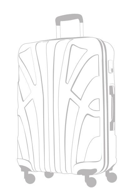 Großer Hartschalenkoffer ABS Hartschale Zeichnung