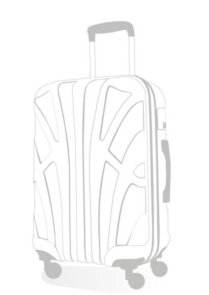 mittlerer Reisekoffer Zeichnung