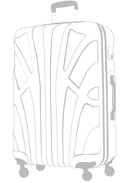 X-Large Hartschalenkoffer ABS Hartschale Zeichnung