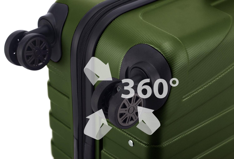 Hartschalenkoffer Reisekoffer Doppelrollen 360°