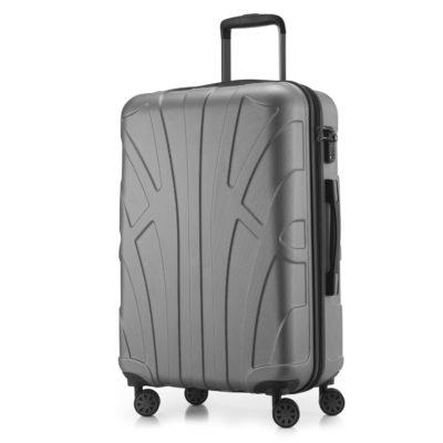 mittelgrosser Koffer hartschalenkoffer silber